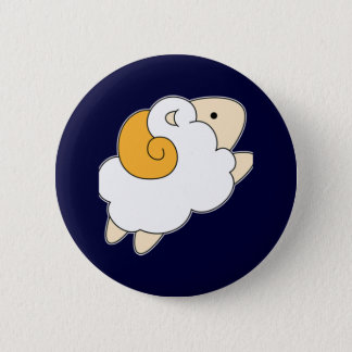 Jumping Sheep 2 Inch Round Button