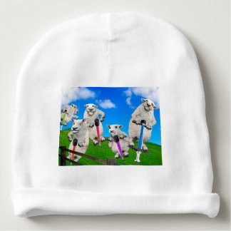 Jumping Sheep Baby Beanie