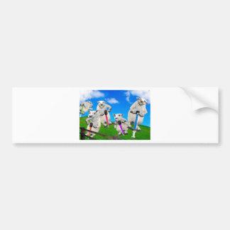 Jumping Sheep Bumper Sticker