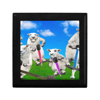 Jumping Sheep Jewelry Box