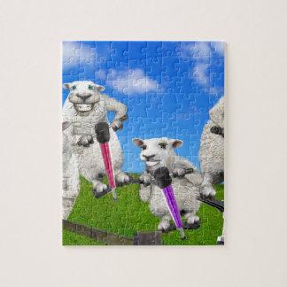 Jumping Sheep Jigsaw Puzzle