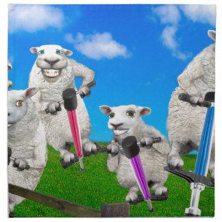 Jumping Sheep Napkin