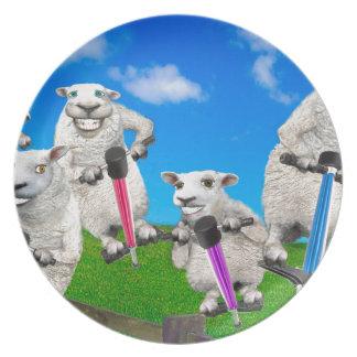 Jumping Sheep Plate