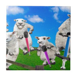 Jumping Sheep Tile
