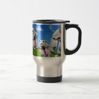 Jumping Sheep Travel Mug
