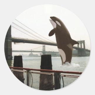 Jumping the Brooklyn Bridge Sticker