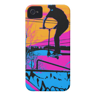 Jumping the Ramp - Scooter Champ iPhone 4 Cases