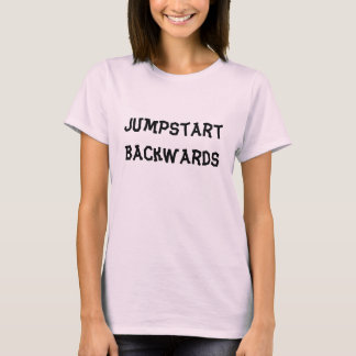 Jumpstart Backwards womens tshirt