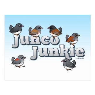 Junco Junkie Postcard