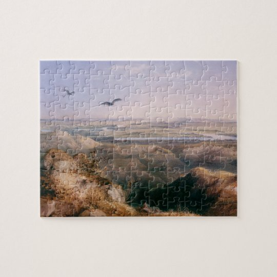 Junction of the Yellowstone and Missouri by Bodmer Jigsaw Puzzle