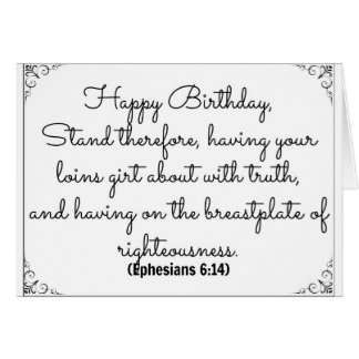 June 14 Bible Birthday card with Ephesians verse