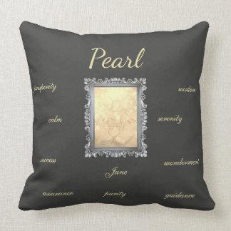 June Birthstone Pearl Fairy Throw Pillow