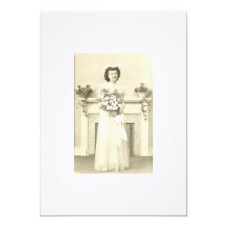 """June Bride 5"""" X 7"""" Invitation Card"""