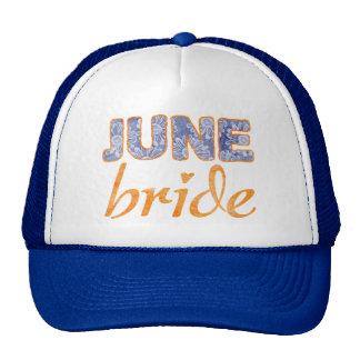 June Bride Wedding T-Shirt Trucker Hat
