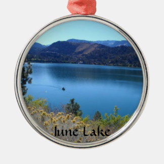 June Lake, California Metal Ornament