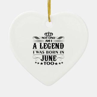 June month Legends tshirts Ceramic Ornament