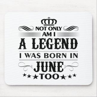 June month Legends tshirts Mouse Pad
