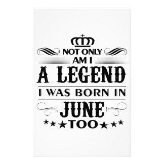 June month Legends tshirts Stationery