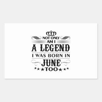 June month Legends tshirts Sticker