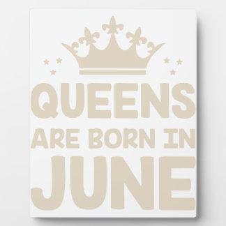 June Queen Plaque