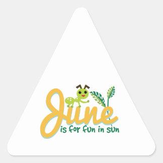 June Sun Triangle Stickers