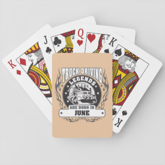 June Truck Driving Legends Playing Cards