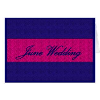 """June Wedding"" Card - Customizable Greeting Cards"