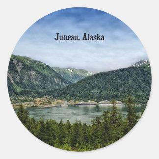Juneau, Alaska Round Sticker