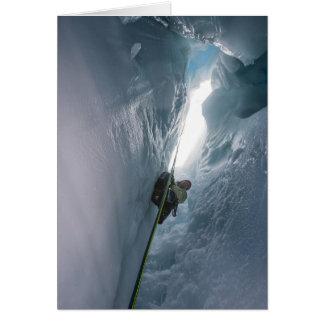 Juneau Icefield Crevasse (Blank Inside) Card