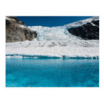 Juneau Icefield Icefall and super glacial lake Post Card