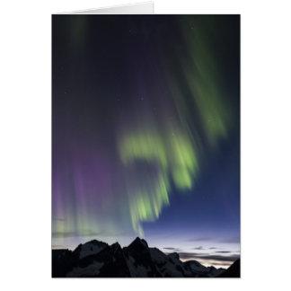 Juneau Icefield Northern Lights. (Blank Inside) Card