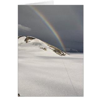Juneau Icefield Rainbow on the Taku (Blank Inside) Card