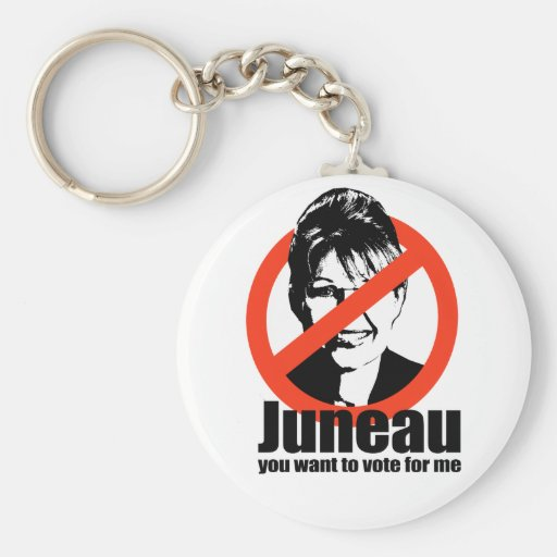 Juneau you want to vote for me key chains