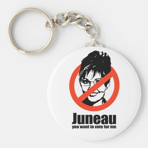 Juneau you want to vote for me keychain