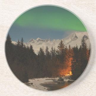 Juneau's Northern Lights Beverage Coaster
