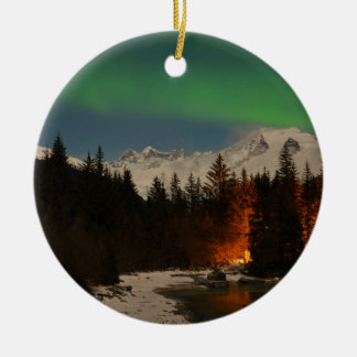 Juneau's Northern Lights Ceramic Ornament