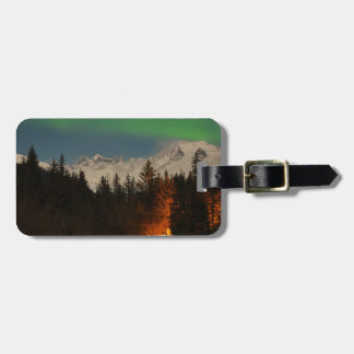 Juneau's Northern Lights Luggage Tag