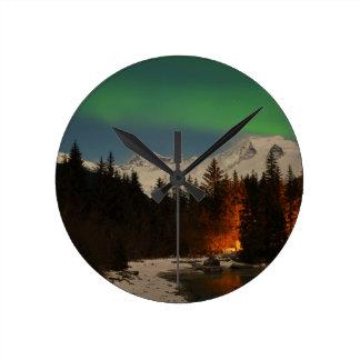 Juneau's Northern Lights Round Clock
