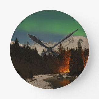 Juneau's Northern Lights Wall Clocks