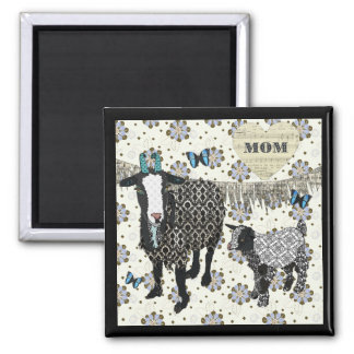 Junebug & Baby Fainting Goat Mom Magnet