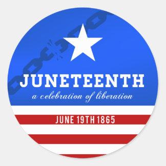 Juneteenth a Celebration of Liberation Classic Round Sticker