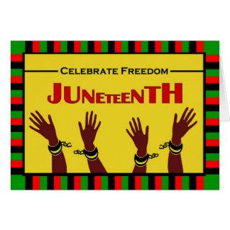 Juneteenth, Celebrate Freedom, Shackles Broken Card