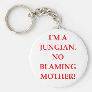JUNG BASIC ROUND BUTTON KEYCHAIN