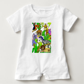 Jungle Afternoon Baby Romper