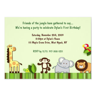 Jungle friends invitations announcements zazzle canada jungle animal friends photo birthday invitation stopboris Choice Image