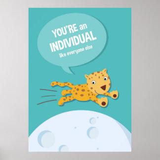 Jungle Animal Leopard _ inspirational kids poster