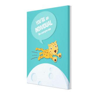 Jungle Animal Leopard _ inspirational kids quote Canvas Print