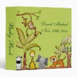 Jungle Animal Safari Celebration Baby Shower Vinyl Binders
