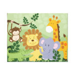 Jungle Animal Safari Nursery Art Canvas 16x20 Canvas Prints
