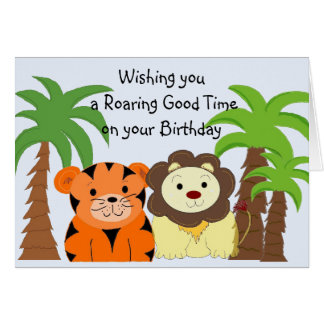 Jungle Animals Birthday Card